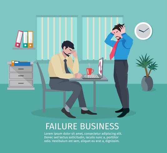 misslyckande affärsidé vektor