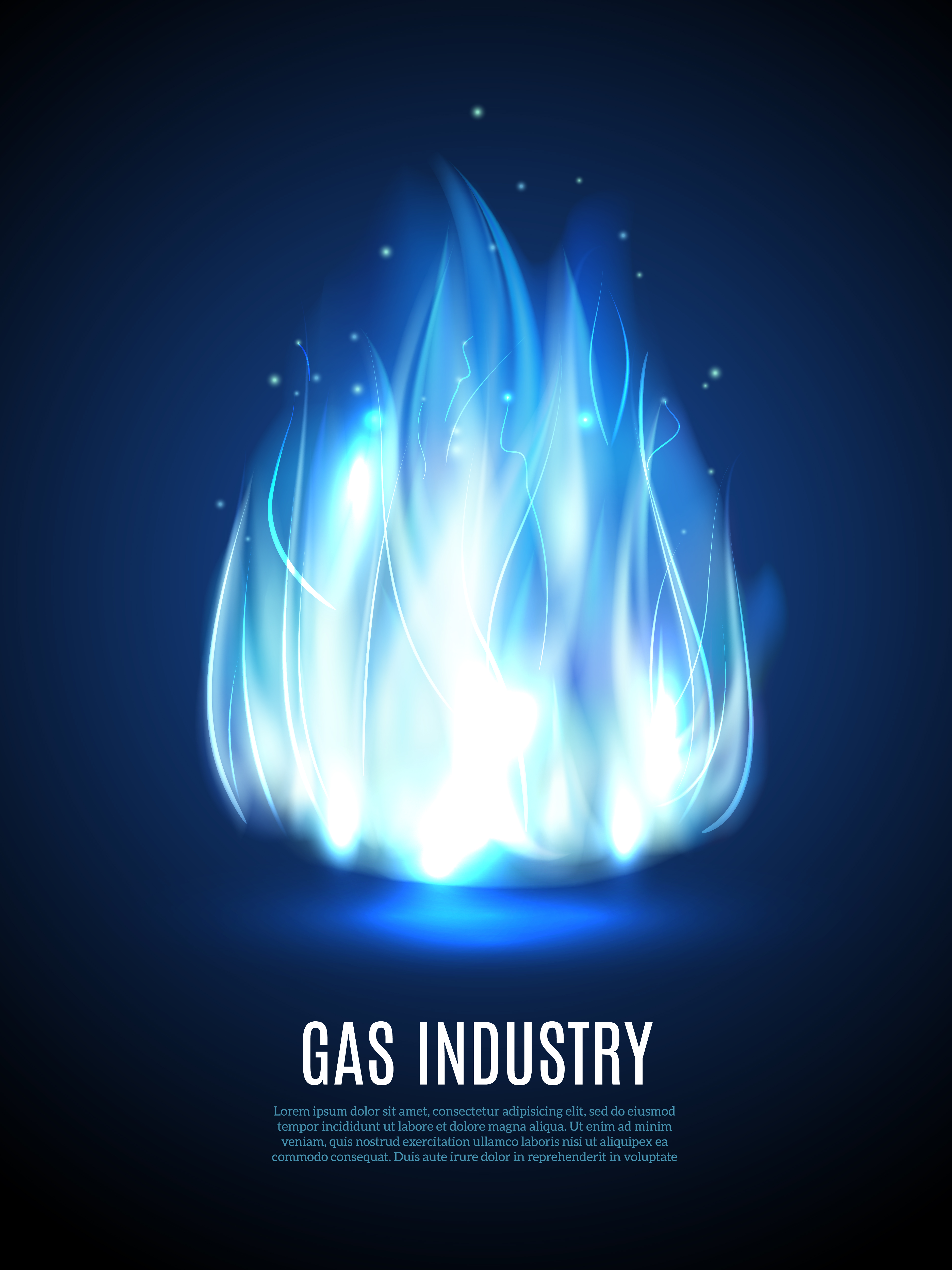 blue flame background vector