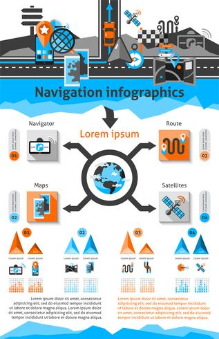 navigations infografiska uppsättning