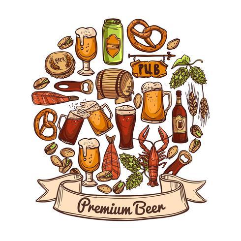 Concept de bière premium