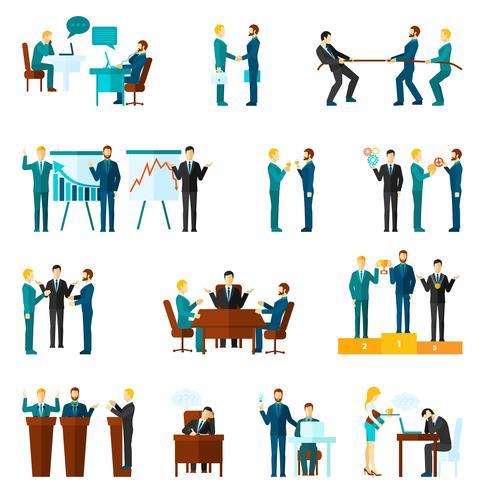 Ensemble d'icônes de collaboration vecteur