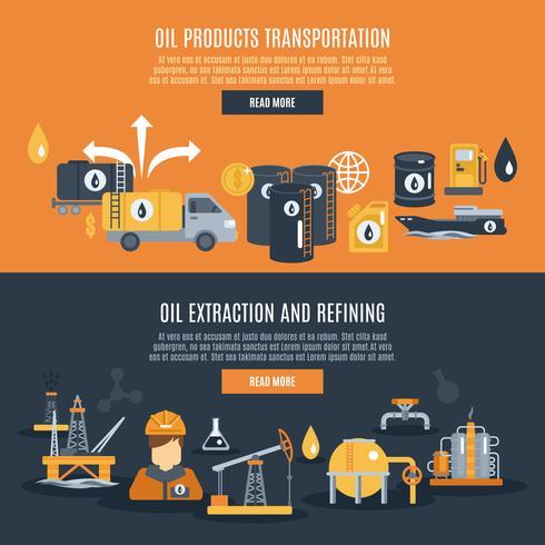 Bannière de l'industrie pétrolière vecteur