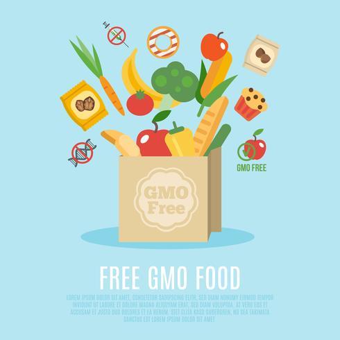 OGM libre concept plat vecteur