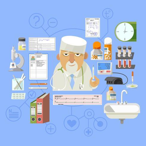 Medical concept banner poster composition  vector