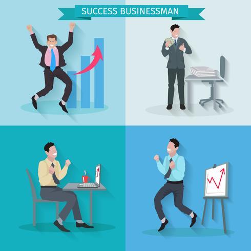 Conjunto de empresário bem sucedido