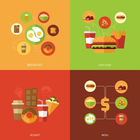Fast Food Design Concept vector
