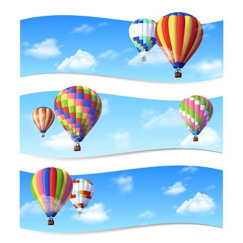 Banners de globo de aire vector