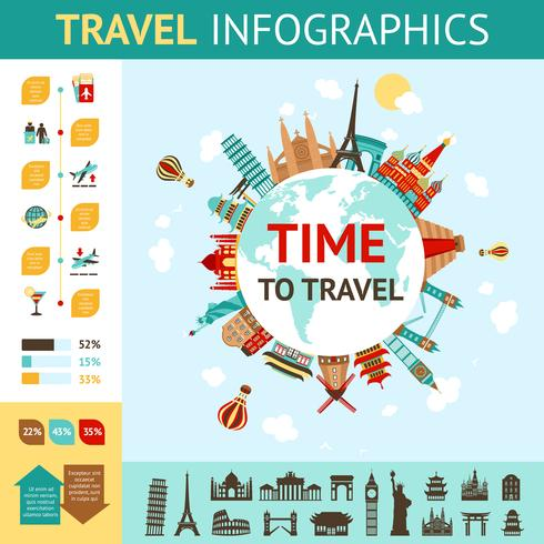 Travel Infographics Set vector