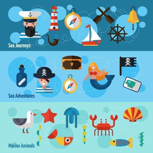 Nautical Banners Set vector