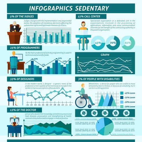 Sitzende Infografiken Set