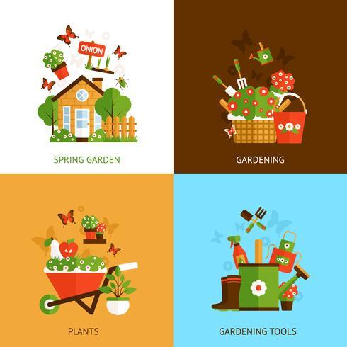 Garten-Design-Konzept