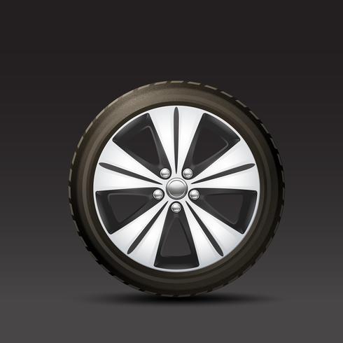 Fond de roue de voiture vecteur