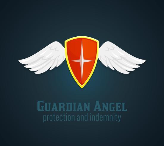 Schild und Flügel-Symbol