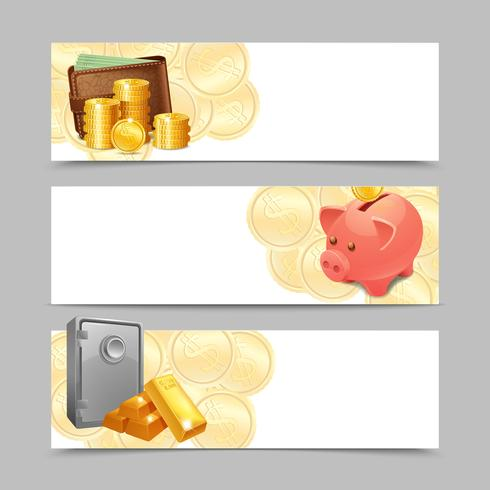 Financial Banner Set vector