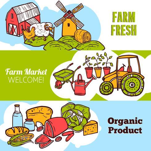 Agriculture Banner Set vector