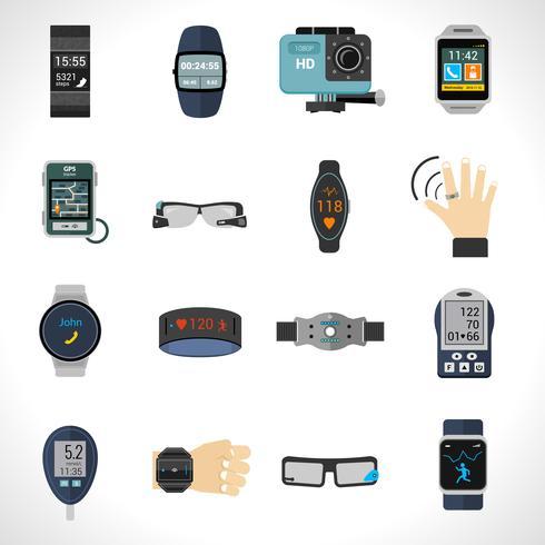 Icone di tecnologia indossabile