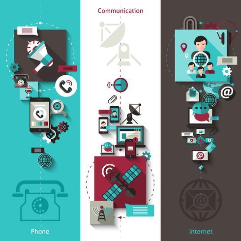 Conjunto de banners de comunicación