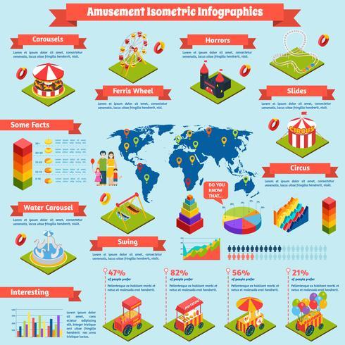 Unterhaltung isometrische Infografiken