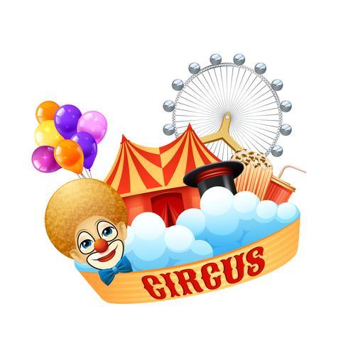 Färgrikt cirkus koncept