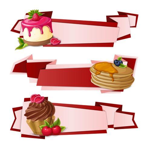 Banners de papel de dulces vector