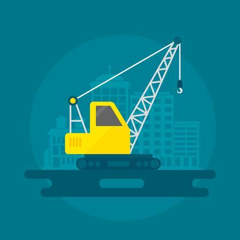 Lifting Crane Flat vector