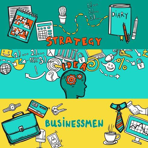 Conjunto de banners de negocios vector