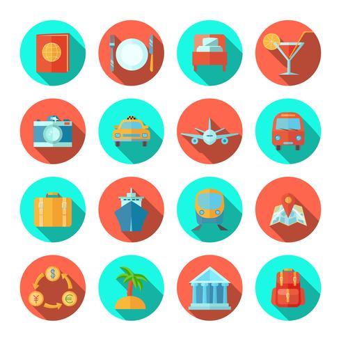 icône de voyage plate