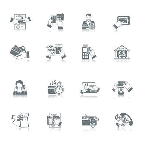 Conjunto de ícones de vida de crédito