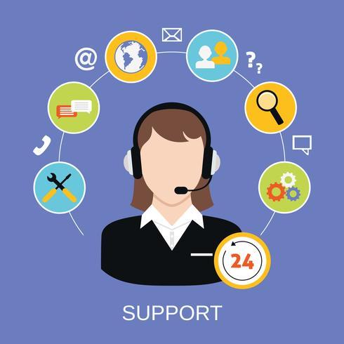 Customer Support Service vector