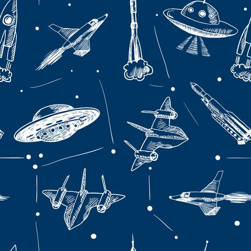 Ruimtevaartuigen naadloos patroon