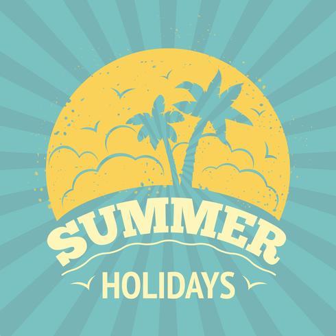 Poster vacanze estive vettore