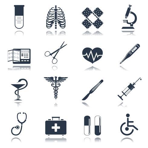 Conjunto de iconos médicos