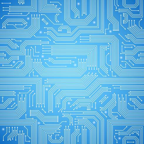 Nahtloses blaues Muster der Leiterplatte