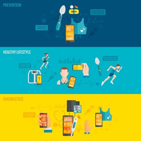 Banner de Salud Digital vector