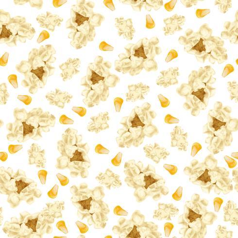 Patrón sin costuras de palomitas de maíz vector
