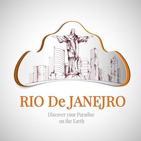 Emblema de la ciudad de rio de janeiro vector