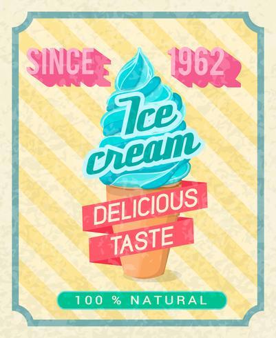 Cartel de helado