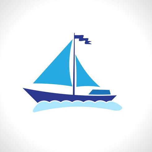 Barco de vela aislado
