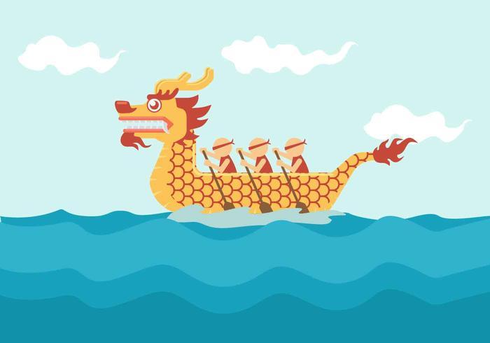 Dragon Boat Festival Vector Illustratie