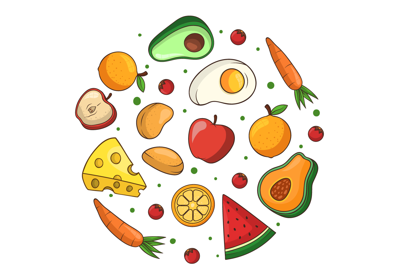 clipart healthy food clip vector choices cliparts summer graphics system