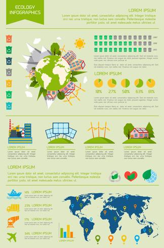 Ecology infographic set vector
