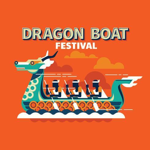 Competitieve bootraces in het traditionele Dragon Boat Festival