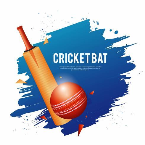 Ilustración de bate de críquet vector