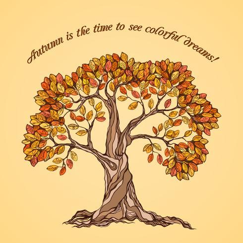 Affiche arbre automne