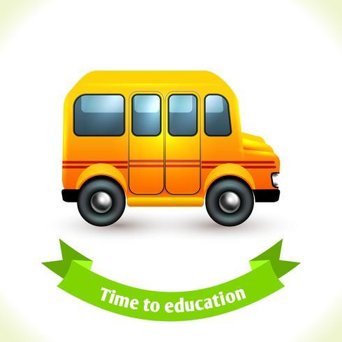 Ônibus escolar de ícone de educação