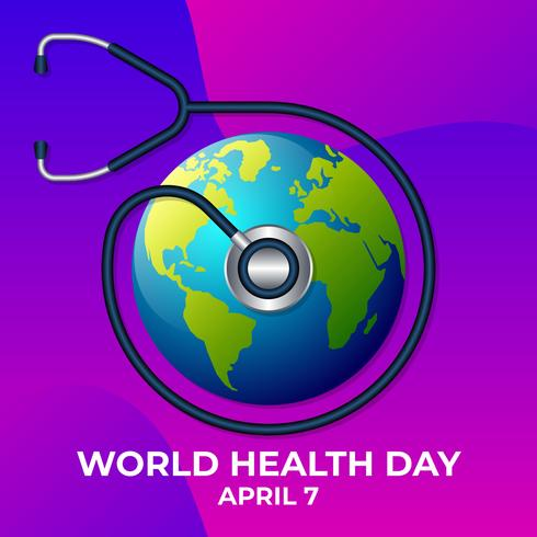 World Health Day Logo Icon Design Template Illustration