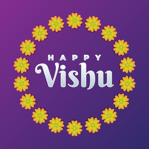 Vishukani Flower Frame För Vishu Festival