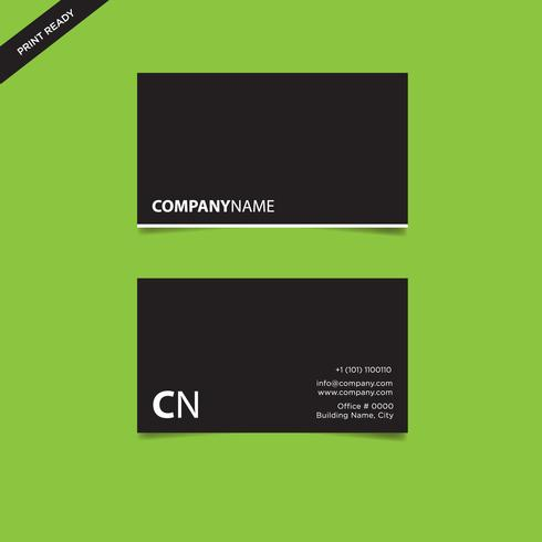 Diseño de tarjeta de presentación corporativa simple, ilustración vectorial lista para imprimir