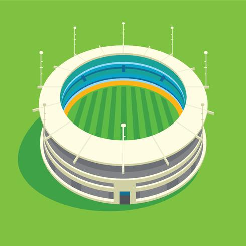Illustration 3D de stade de cricket