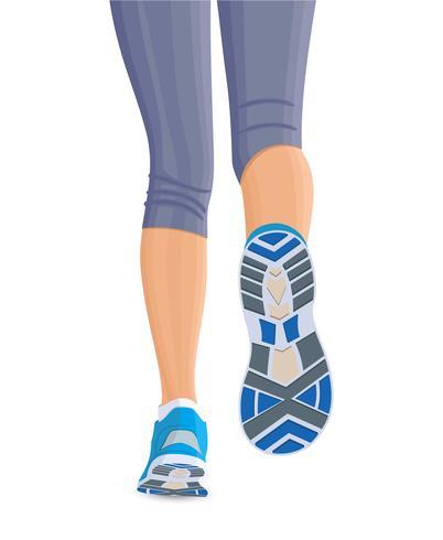 Runing kvinnliga ben